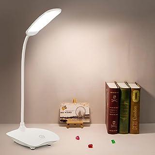 Desk Lamp | 18 LEDs | Super-Bright! | Prevent Eye Strain | Flexible & 360° Rotatable Neck | Rechargeable & 3X Bigger Batte...