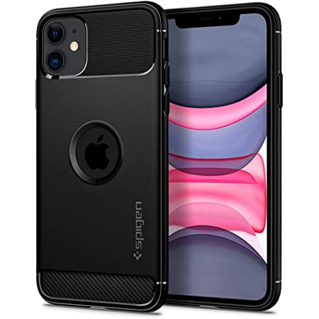 Spigen Rugged Armor Back Cover Case Compatible with iPhone 11 (TPU | Matte Black)