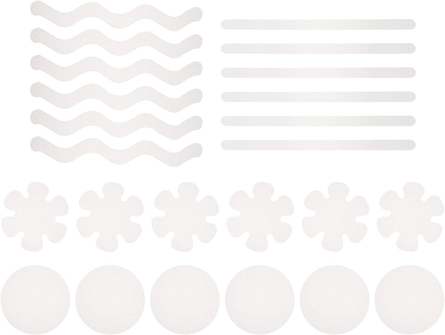 NUOBESTY 24pcs Super beauty product restock quality top Non Slip Bathtub Adhesive Super popular specialty store Decals Flower Stickers
