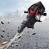 Berkalash 1800W Concrete Breaker Punch Drill, Petrol 2 Stroke Concrete Break Machine, 32.7CC Multifunction Gasoline Demolition Hammer, Hand-held Rock Drill