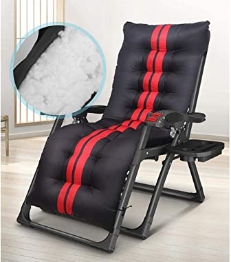 HTZ-M Deck Chair Reclining Sun Lounger,Folding Chair Iron Alloy Lounge Chair Windproof and Breathable Portable Headrest and U