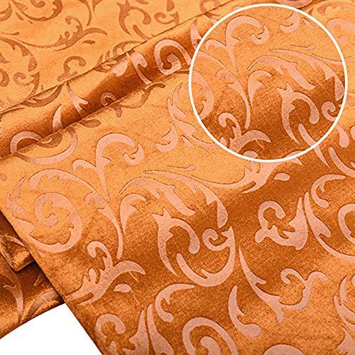 MUYUNXI Tela De Terciopelo Suave para Coser De Chaquetas Decoración Decoración del Hogar Cortinas Tapicería Vestido Sillas 145 Cm De Ancho Vendido por 2 Metro(Color:Naranja)