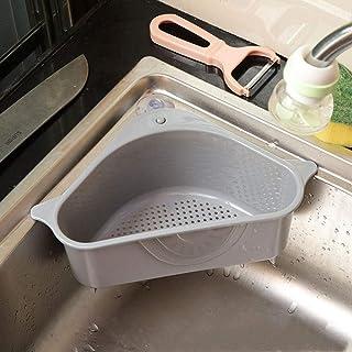 Boîtes de Rangement Pliable en Tissu,Étagère de cuisine panier de vidange boîte de rangement triangle gris