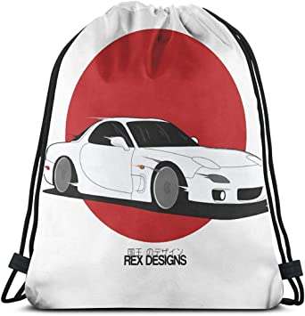 Drawstring Backpack Rising Sun Flag Gym Bag