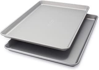 Sur La Table Classic Half Sheet Pans, Set of 2, Silver