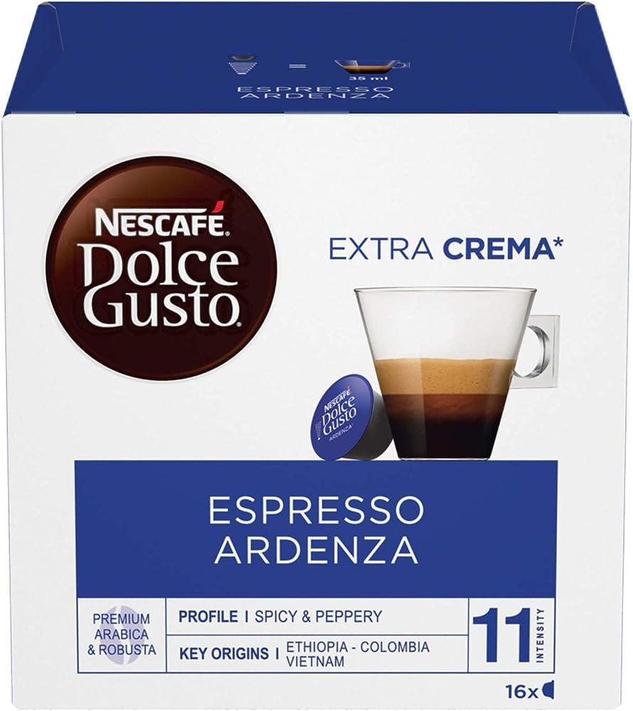 Nescafé dolce gusto, caffè espresso ardenza, extra crema, 6 confezioni da 16 capsule