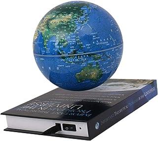Magnetische levitatie zwevende wereldbol 6 inch, anti-zwaartekracht roterende wereldkaart met LED-licht educatief cadeau t...