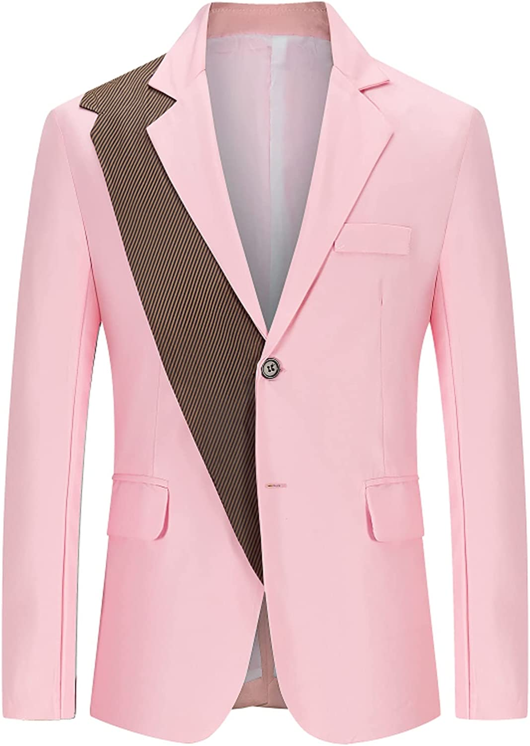 Premium Suit for Men's Fashion Business Blazer England Style Slim Splicing Single Breasted Youth Formal Coat Jacket