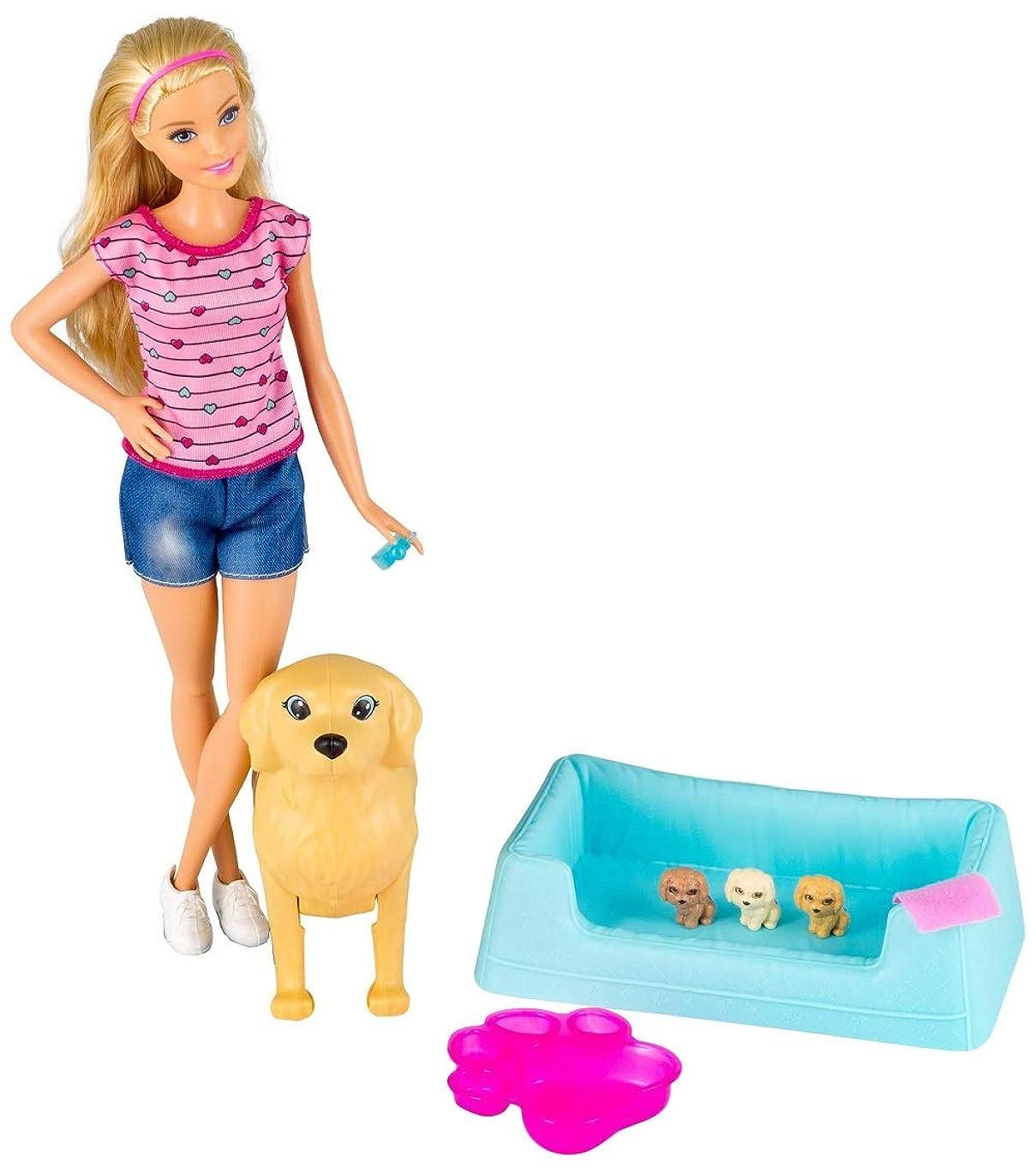 Barbie Newborn Pups Doll & Pets [Amazon Exclusive]