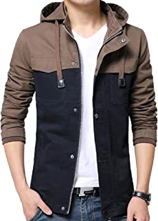 Howme-Men Tactical Spell Color Press Button Trench Coat Jacket