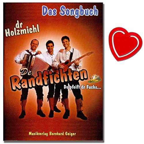 De Randfichten Das Songbook für Gesang, Klavier, Akkordeon und Gitarre mit herzförmiger Notenklammer