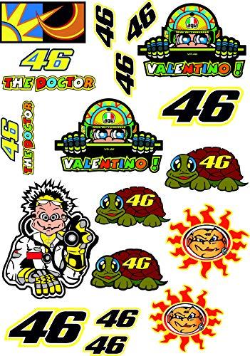 Rossi 46 The Doctor Aufkleber Sticker Motogp Motorrad A4 Bogen