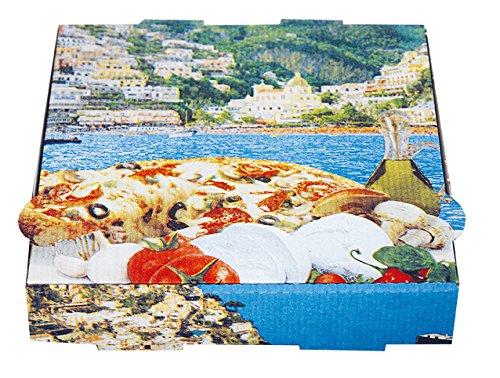 100 Pizzakartons • Pizzaschachtel • Pizzaboxen • Pizzaverpackung • 32 x 32 x 4,2 cm • Model: New York, Kraft