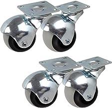 4 stks Meubelwielen Bal Caster Wielen Moving Caster Wheels, TPR-trolleywielen, 360 graden roterende kogelwielen met plaat,...