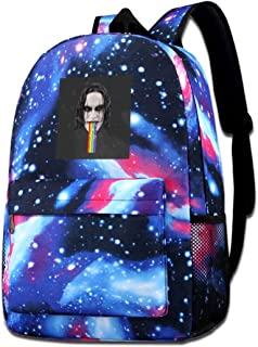 Galaxy Printed Shoulders Bag The Crow Brandon Lee Puking Rainbow Snapchat Filter Fashion Casual Star Sky Backpack For Boys...