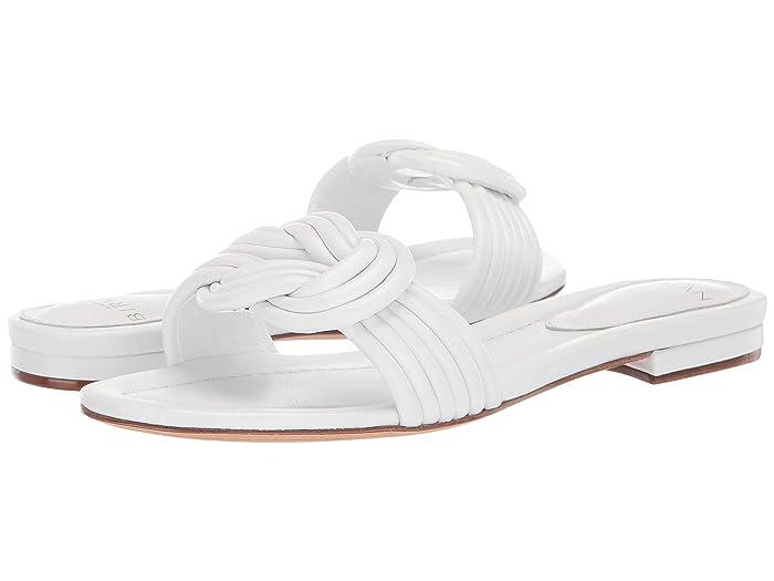 Alexandre Birman  Vicky Flat (White Capreto) Womens Sandals