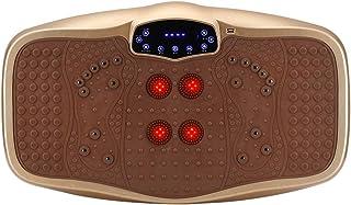 JIANGJIE Fitness Vibration Platform Wholebody Massager Máquina de vibración de Cuerpo Entero Crazy Fit Vibration Plate con Control Remoto y Bandas de Resistencia Champagne
