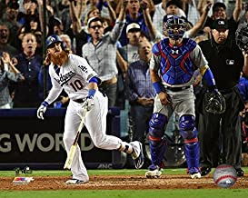 Justin Turner Los Angeles Dodgers MLB Walk-off Home Run 2017 NLCA Action Photo (Size: 20