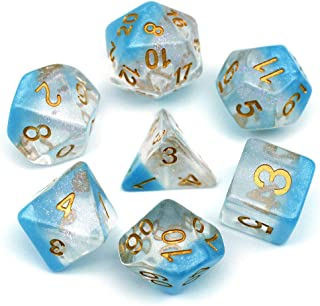 HD Dice-RPG Polyhedral Dice DND Dice for Dungeons and Dragons D&D Pathfinder Role Playing Games Dice Games Transparent Dic...