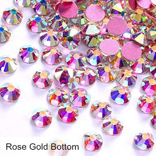 Super Glitter Strass Non Hotfix Strass Crystal AB SS3-SS50 Nail Art Strass Nail Art Décorations F0175, Crystal AB, Mixte SS3-30 1000pcs