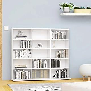 vidaXL Estantería para CD Aparador Armario Mueble Mostrador Organizador Almacenamiento Salón Casa Hogar Aglomerado Blanco ...