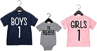 Big Brother Big Sister Shirts Boys 1 Girls 1 Tie Breaker Pregnancy Announcement