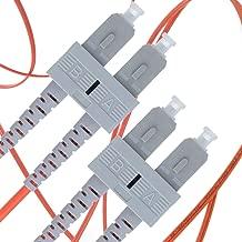 SC to SC Fiber Patch Cable Multimode Duplex - 1m (3.28ft) - 62.5/125um OM1 - Beyondtech PureOptics Cable Series