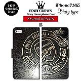 BRAVE CROWN t066 iPhone XS Max XR X 8 7 6s 6 plus プラス SE 5s 5 手帳型 アイフォン スマホ ケース Xperia Galaxy 全機種対応 ダイアリー ブランド グッズ サッカー フットボールアンリ アーセナル エミレーツ スタジアム プレミア イングランド ボール ユニフォーム エンブレム メンズ レディース