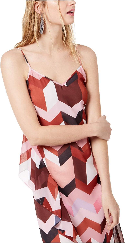 Bar III Women's GeometricPrint Layered Slip Dress