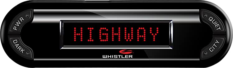 Whistler PRO-3700 High Performance Laser Radar Detector: 360 Degree Protection and Voice Alerts, BLACK