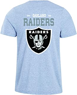 Men's O-Neck Short Sleeve Letters Print Oakland Raiders Solid Color Summer T-Shirts