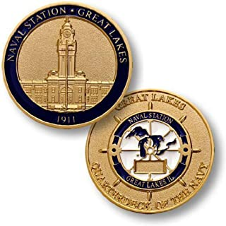 U.S. Navy Naval Station Great Lakes Challenge Coin