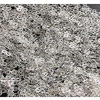 プラスチッククリアクリスタルSクリップコネクタリフィル 1000個 ゴムバンドDIYブレスレット用