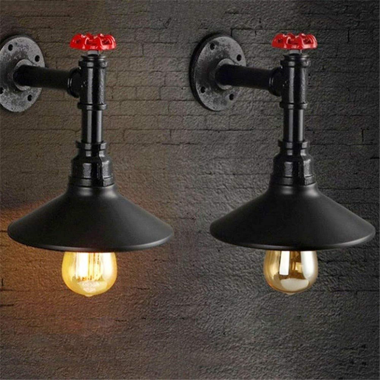 HZHUR Wandleuchte Schlafzimmer Wohnzimmer Flur bad Wandlampe Retro-modernen Wandbeleuchtung Vintage Single Head schwarz Spannung  Ac85-265V