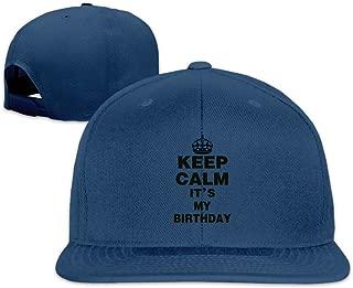 Keep Calm Its My Birthday Flat Bill Adjustable Hat - Hip Hop Baseball Hat