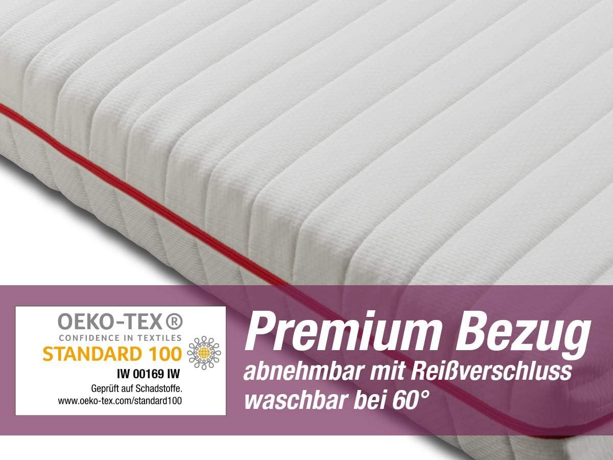 Bezug V2 Premium Doppeltuch orthop/ädische 7-Zonen Kaltschaummatratze 140x200 cm H2 // H3 mittelfest BMM Matratze Klassik 19 H/öhe 19cm