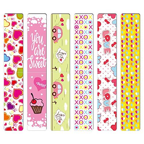 TUPARKA 36 PCS Magnetic Bookmarks Valentine's Day Bookmark Gift for School Prizes and Valentine's Party Favors for Kids