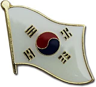 SUPERDAVES SUPERSTORE South Korea Country Flag Small Metal Lapel Pin Badge ... 3/4 X 3/4 Inches ... New