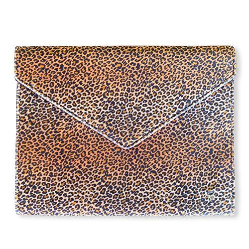 Wildflower 13-Inch Laptop Sleeve Clutch Bag (Leopard)