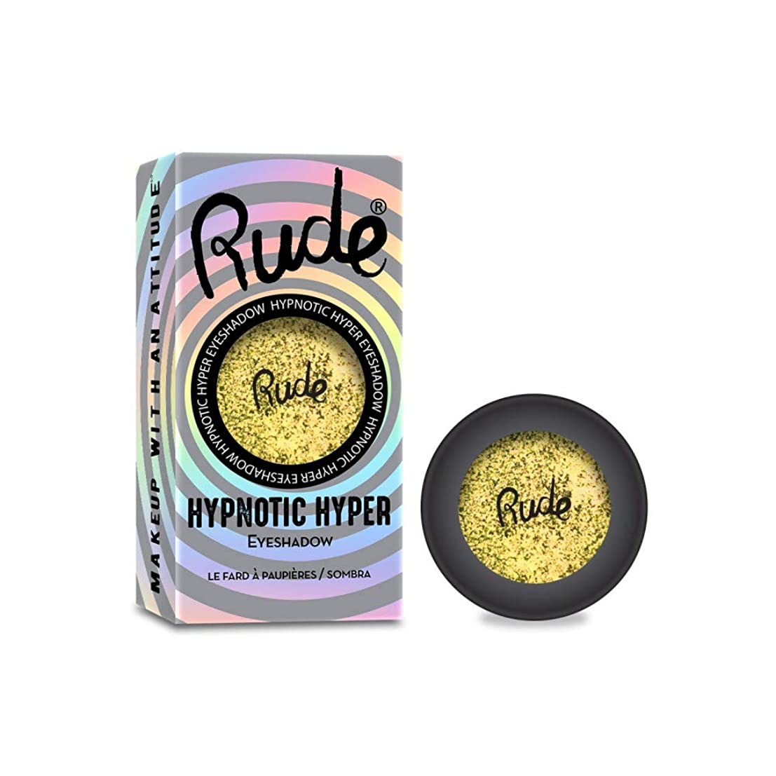 バンケット構成不定RUDE Hypnotic Hyper Duo Chrome Eyeshadow - Trance Dance (並行輸入品)