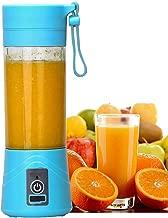 RYLAN Rechargeable Portable Electric Mini USB Juicer Bottle Blender for Making Juice, Shake, Smoothies, Travel Juicer for Fruits and Vegetables, Fruit Juicer for All Fruits, Juice Maker Machine (Blue)