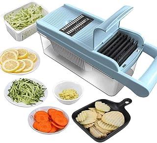 ZHTY Trancheur de légumes, hachoirs à légumes Multifonctions, trancheuse de Cuisine, hélicoptère d'oignon de légumes pour ...