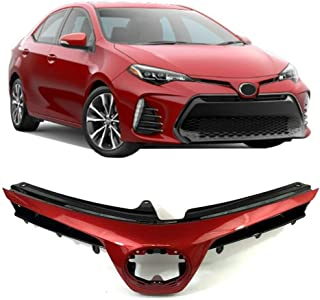 Grille fit for Toyota Corolla SE XSE 17-18 Front upper (Barcelona Red)(Code 3R3)
