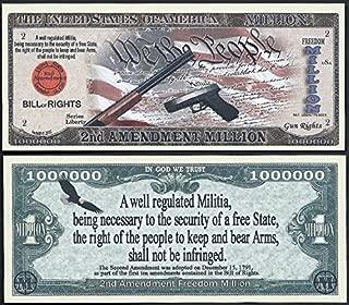 Second (2nd) Amendment /Gun Rights Million Dollar Bill (Lot of 2 Bills)