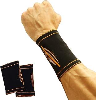 2枚セットリストバンド テニス ランニングの汗吸収 怪我防止 良い通気性 伸縮性 男女兼用 フィットネス器材 両手セット