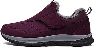 OROSUA Chaussures d'hiver pour Hommes en Cuir suédé Doublure Chaude Chaussures causales sans Lacet Bas Anti-dérapant Simpl...