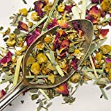 Plum Deluxe Chamomile Bloom (chamomile rose lavender, Green Rooibos) Organic Non-GMO Loose Leaf Tea, Gourmet, Made in the USA (15-20 Cups from 1 Oz. Pouch)