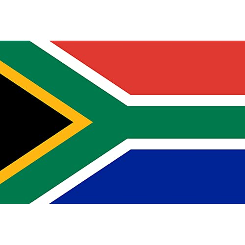1 Flag Brilliant Souvenir Blue and Red Yellow 3ft x 5ft Big and Bold Large Sized South African Flag Black Decoration White suitable for Indoor and Outdoor Use Perfect for any occasion Green Party south African themed party.
