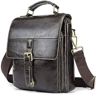 Men's Handbags - First Layer Leather Shoulder Crossbody Bag, Men's Vintage Tote