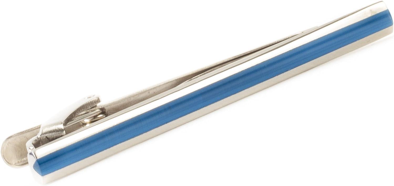 Tateossian Men's Rhodium Plated Fibre Optic Tie Clip